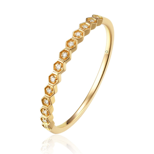 14K HONEYCOMB RING - Chalmers Jewelers