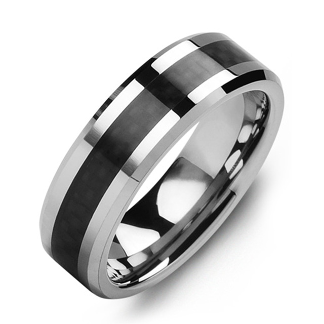Woven Carbon Fiber Wedding Band - Chalmers Jewelers