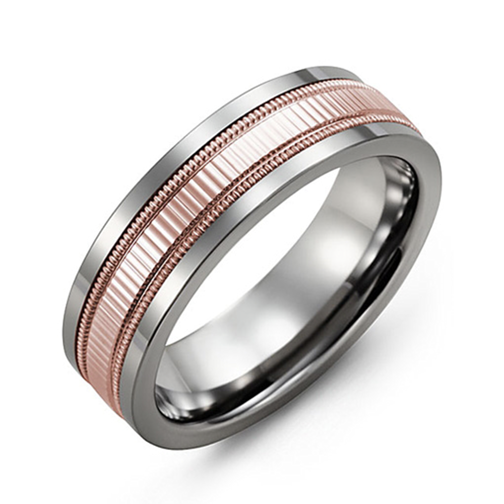 Eternity Accents Milgrain Wedding Band