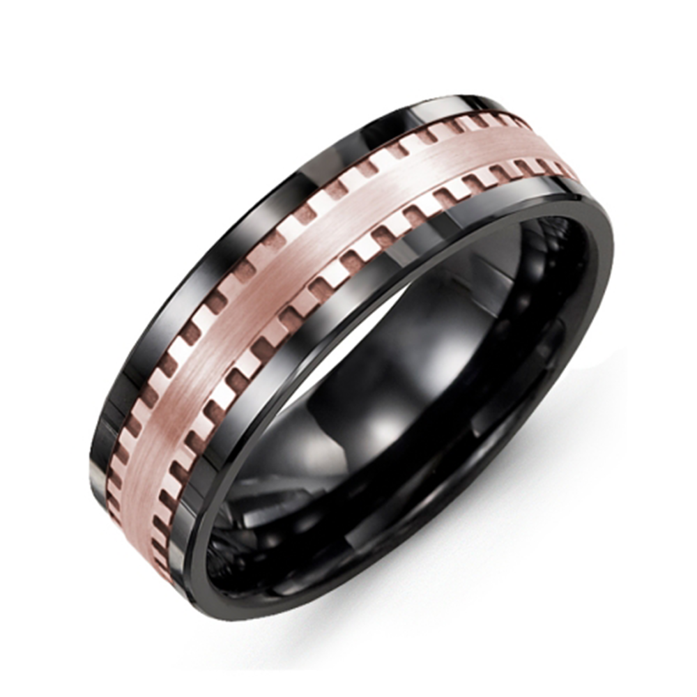 Carved Pattern Wedding Band