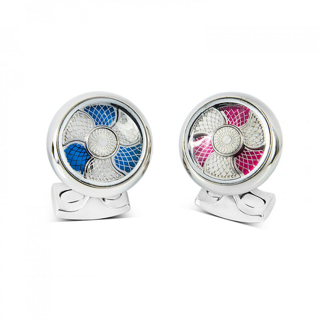 Deakin & Francis Blue And Pink Color Change Cufflinks - Chalmers Jewelers