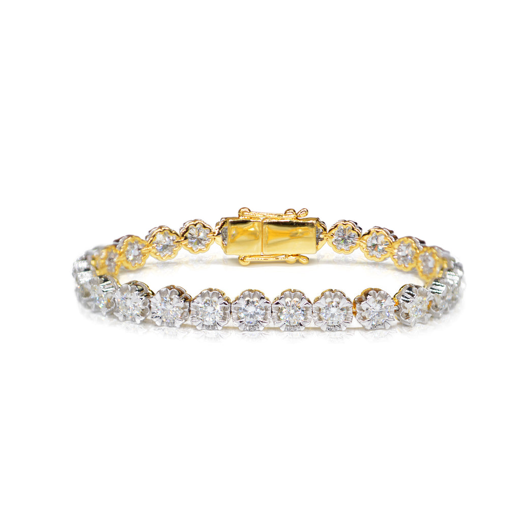 22kt Yellow Gold and Diamond Tennis Bracelet