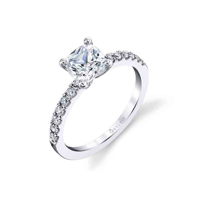 Cushion Cut Engagement Ring S1498 CU - Chalmers Jewelers