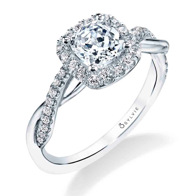 Cushion Cut Engagement Ring S1724 - CU-CH - Chalmers Jewelers