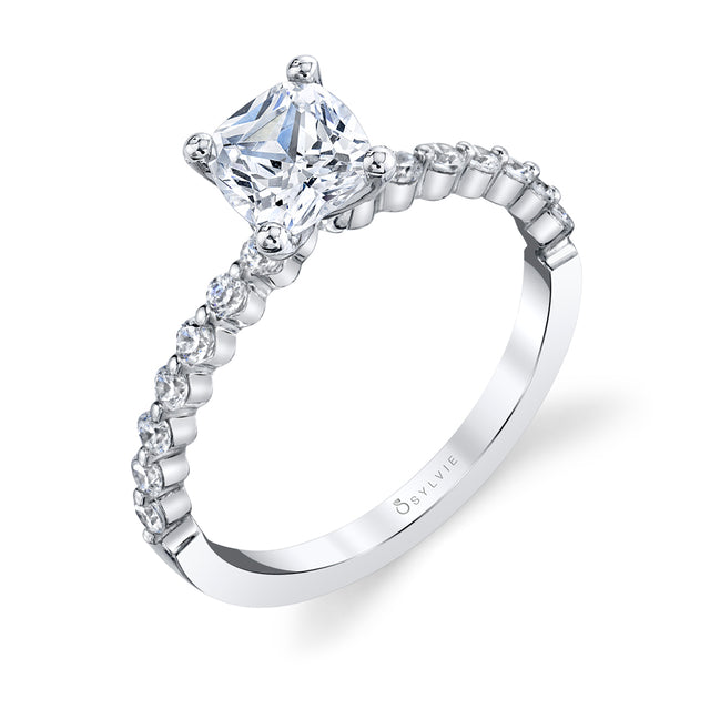 Cushion Cut Engagement Ring S1P14 - CU - Chalmers Jewelers