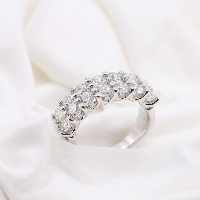 Custom Double-Row Diamond Ring