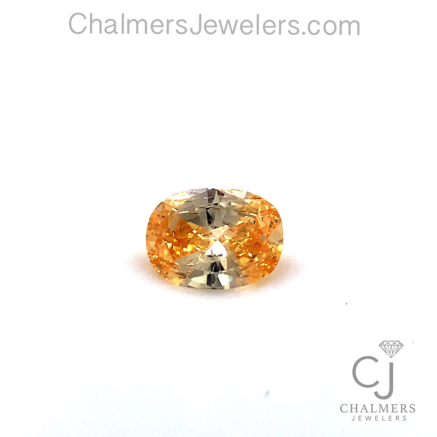 0.54ct Natural Diamond - Fancy Dark Orange