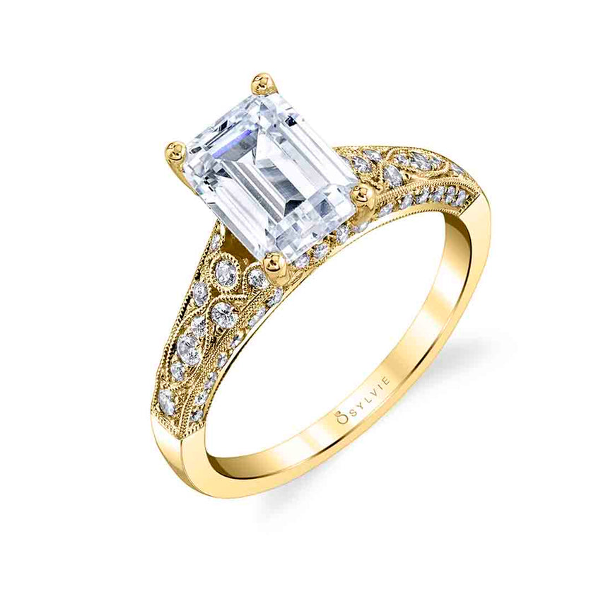 Emerald Cut Engagement Ring S1272 - EM - Chalmers Jewelers
