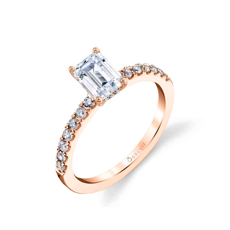 Emerald Cut Engagement Ring S1498 - EM - Chalmers Jewelers