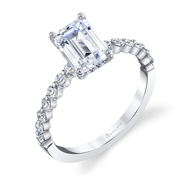 Emerald Cut Engagement Ring S1P14 - EM - Chalmers Jewelers