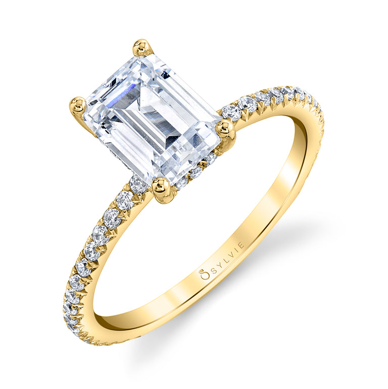 Emerald Cut Engagement Ring S2093 - EM - Chalmers Jewelers