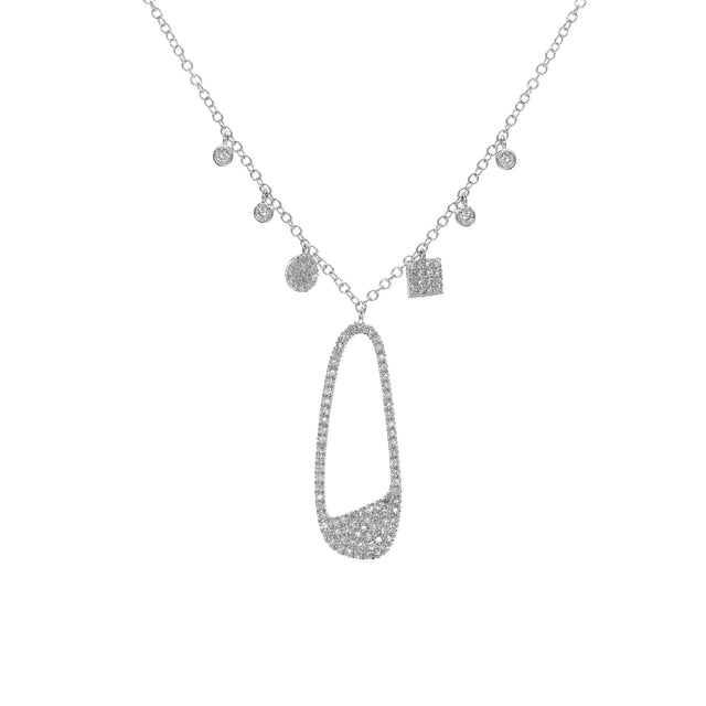Diamond Necklace in 14kt White Gold