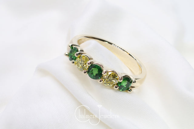 Custom 'Green Bay' Inspired Ring - Chalmers Jewelers