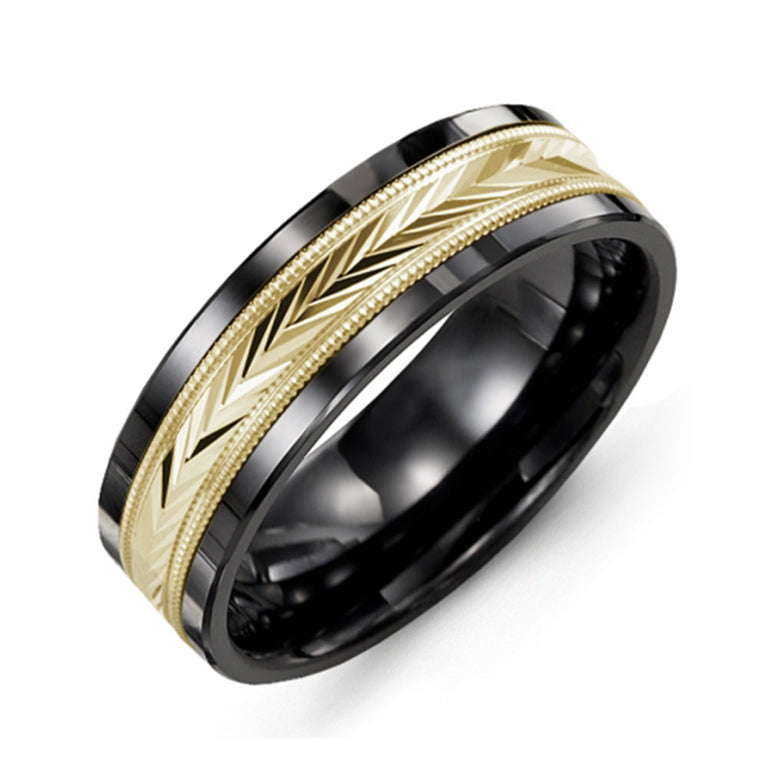 V-Cut Wedding Band
