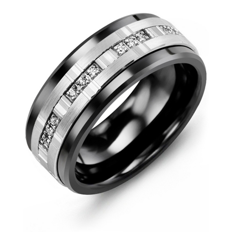 Trio Diamonds Wedding Band - Chalmers Jewelers