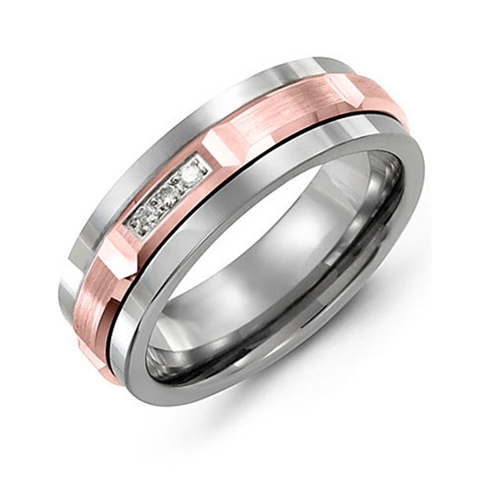 Beveled Trio Diamond Wedding Band