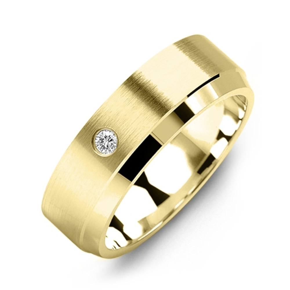 Single Diamond Wedding Band