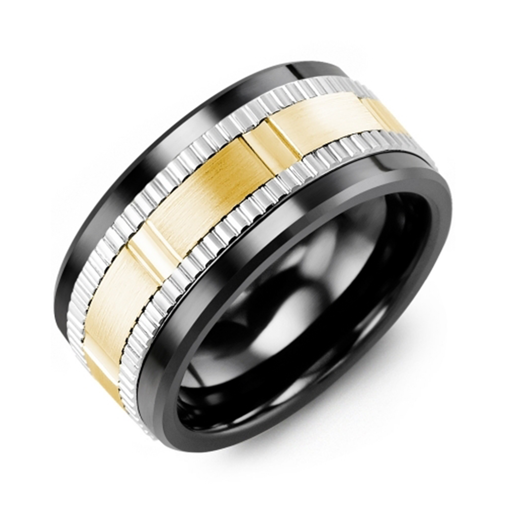 Wide Eternity Grooved Wedding Band