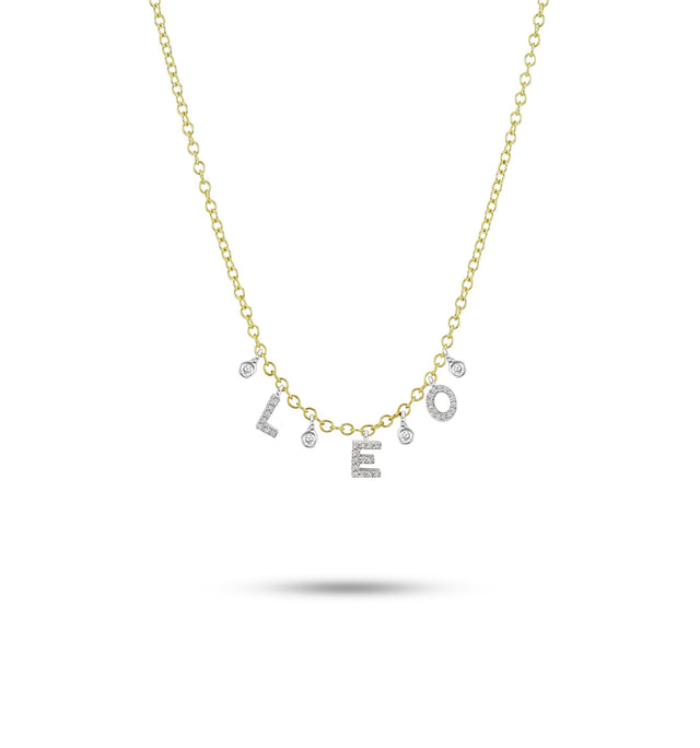 Custom Initial Diamond Necklace with 3 letters