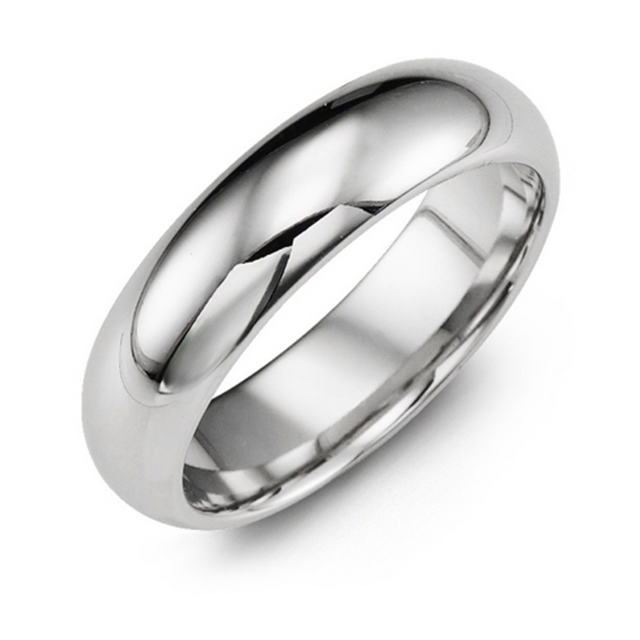 Classic Polished Cobalt Wedding Band