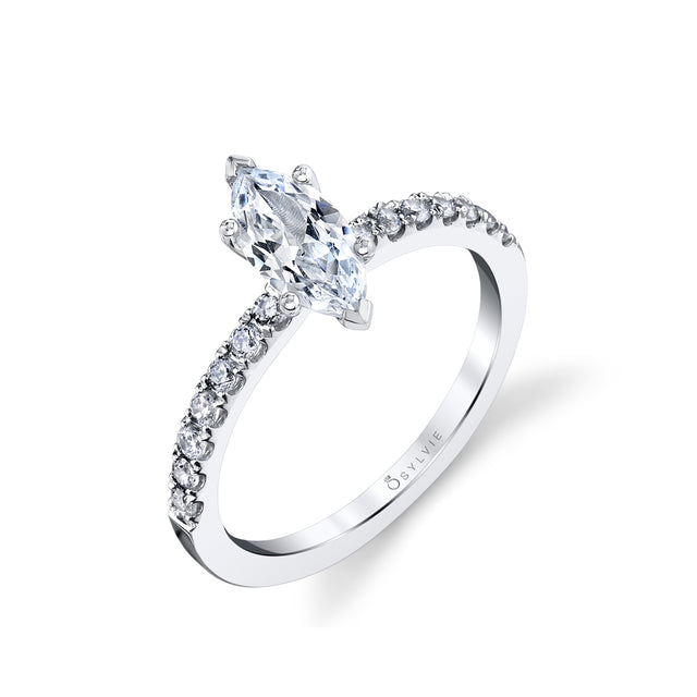 Marquise Engagement Ring S1498 - MQ - Chalmers Jewelers