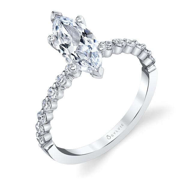 Marquise Engagement Ring S1P14 - MQ - Chalmers Jewelers