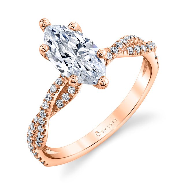 Marquise Engagement Ring S1523 - MQ - Chalmers Jewelers