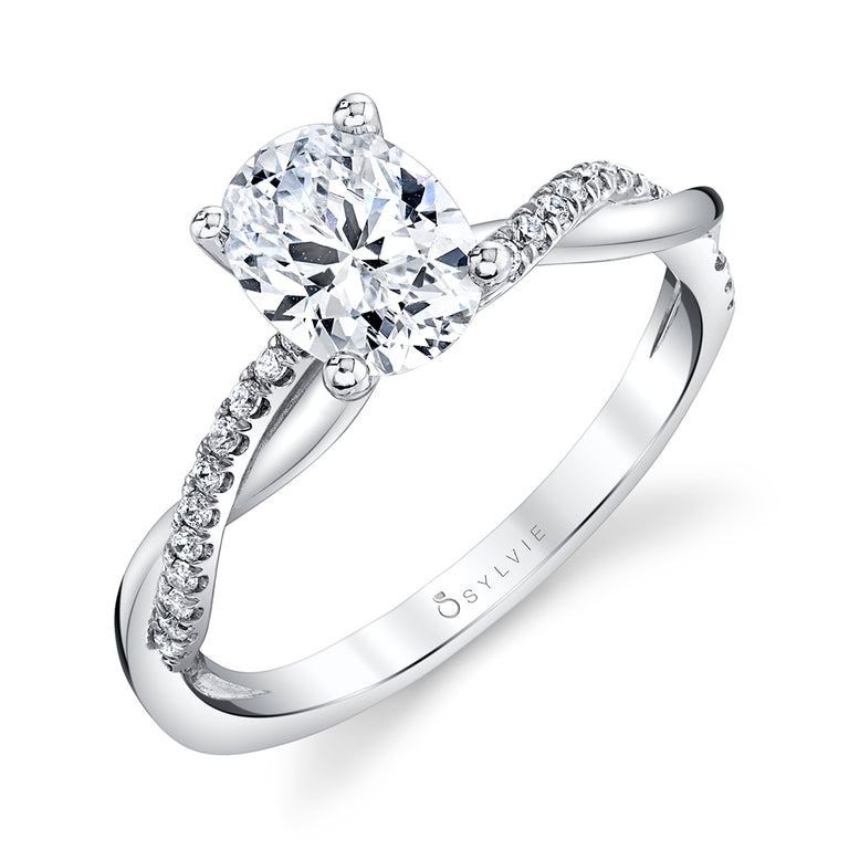 High Polish Oval Engagement Ring S1524 - OV - Chalmers Jewelers