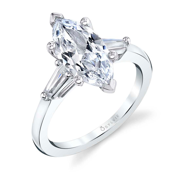 Three Stone Marquise Engagement Ring S3012 - MQ - Chalmers Jewelers