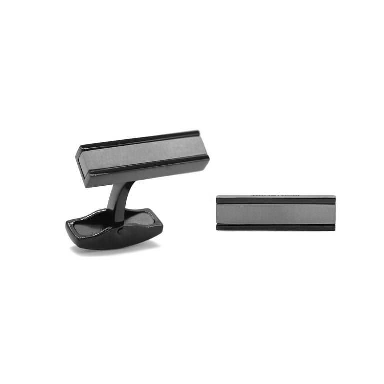 Montblanc Urban Speed Cuff Links, Grey/Black - Chalmers Jewelers