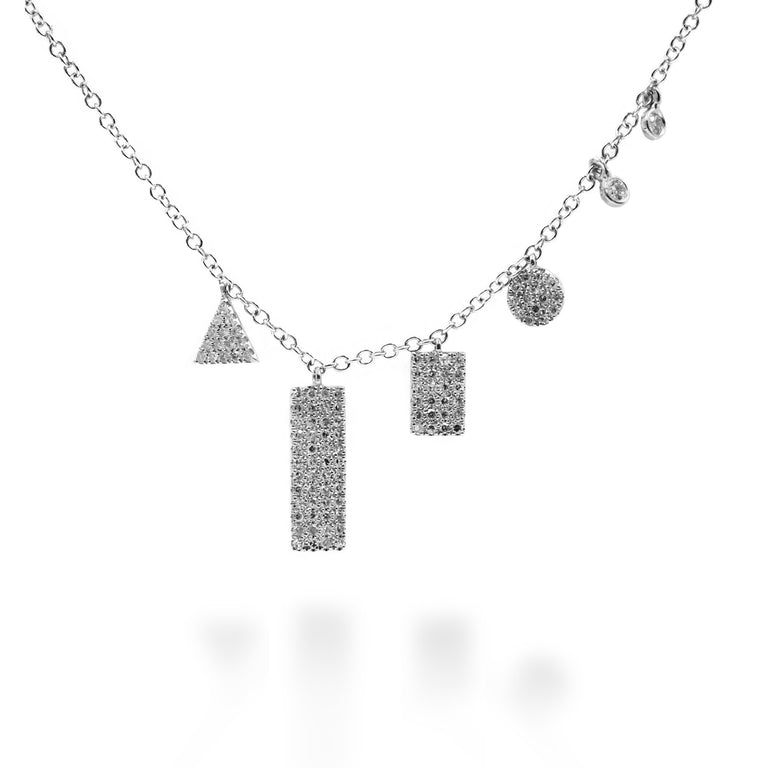 Geometric Diamond Necklace - Chalmers Jewelers