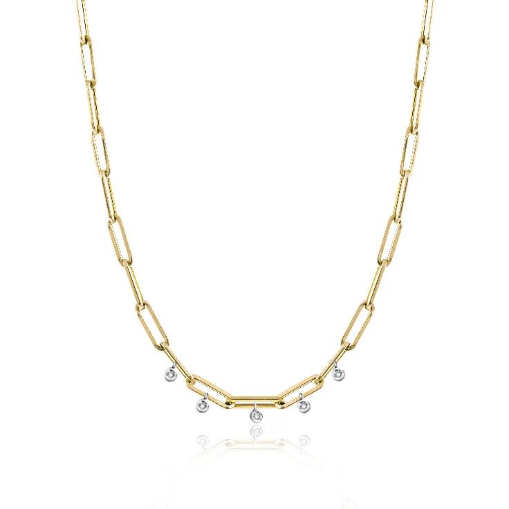 Chunky Chain Diamond Necklace