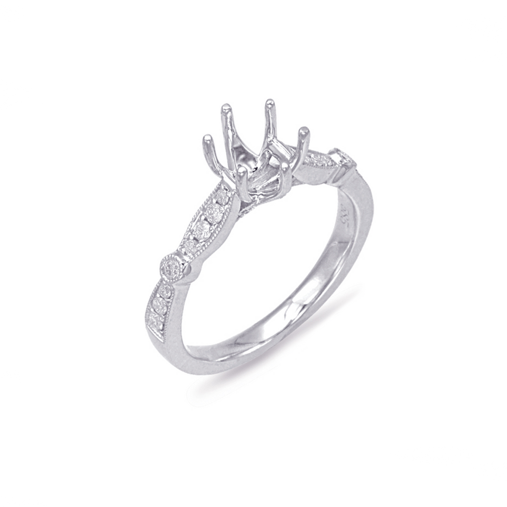 6-Prong White Gold Engagement Ring