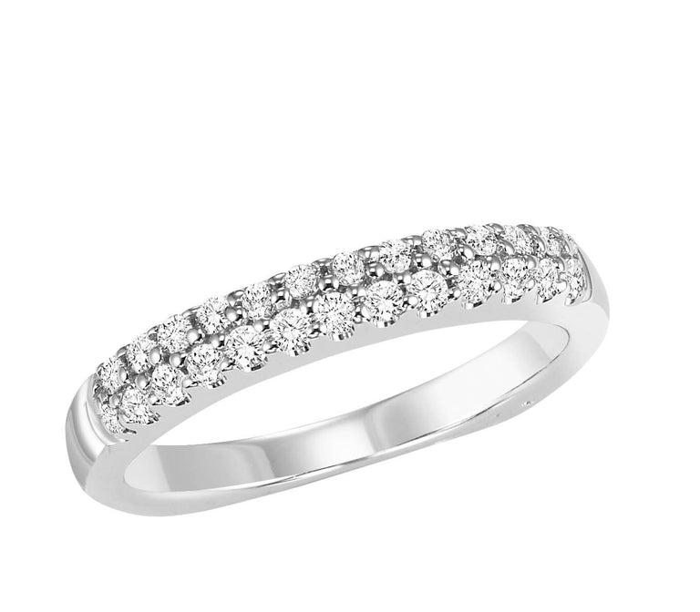 18kt diamond band with 3/8 ctw