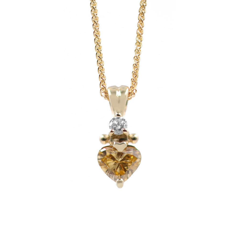Orange Diamond Pendant
