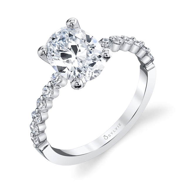 Oval Engagement Ring S1P14 - OV - Chalmers Jewelers