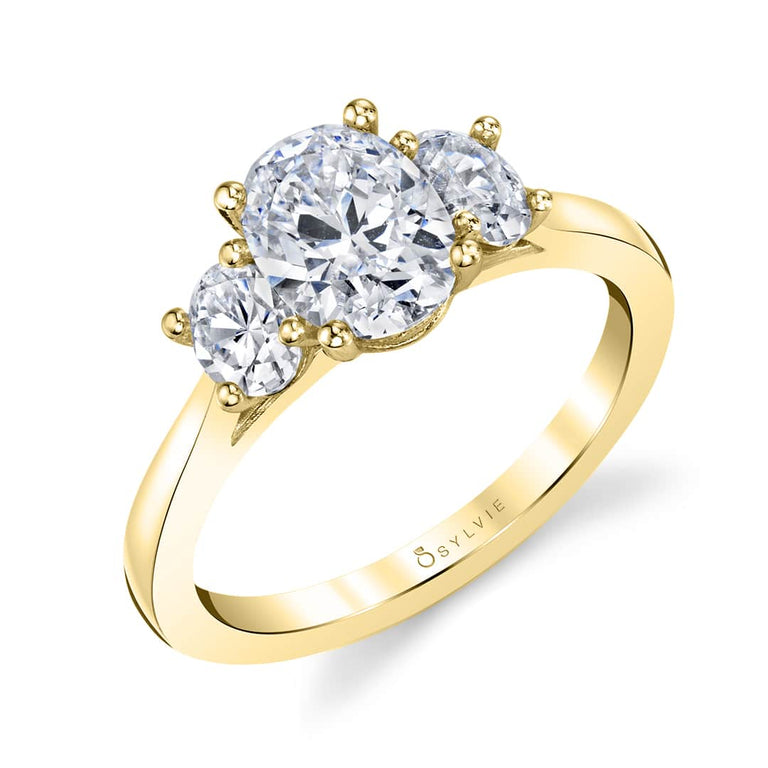 Three Stone Engagement Ring S3022 - Chalmers Jewelers