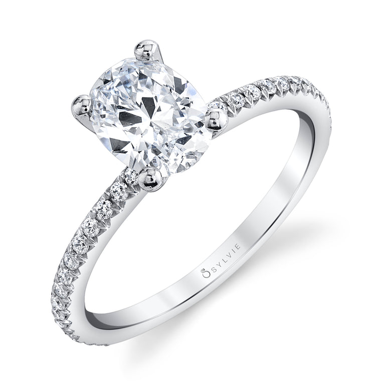 Oval Engagement Ring S1093 - OV - Chalmers Jewelers