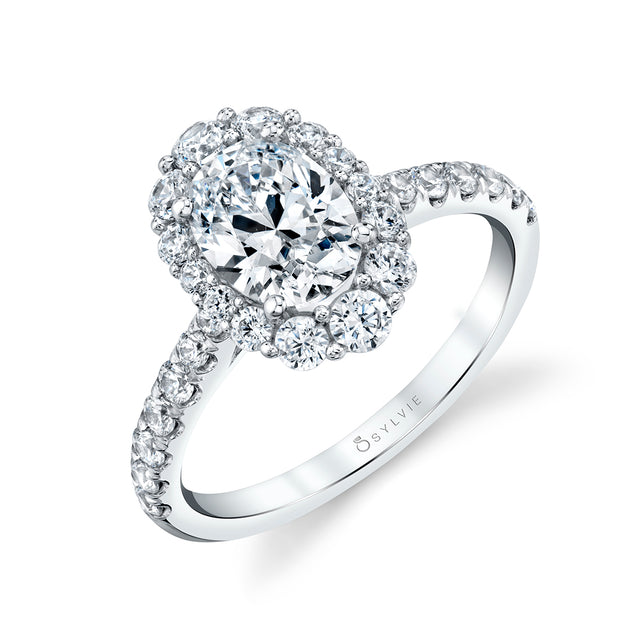 Oval Engagement Ring S1848 - OV - Chalmers Jewelers
