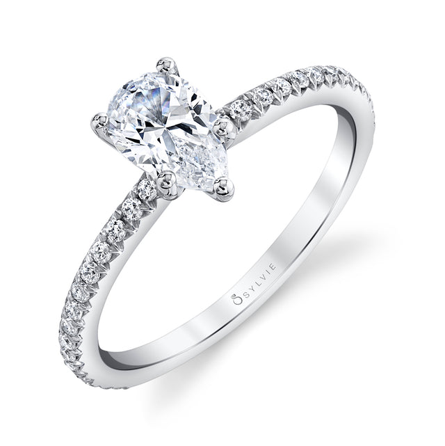 Pear Engagement Ring S1093-PS - Chalmers Jewelers