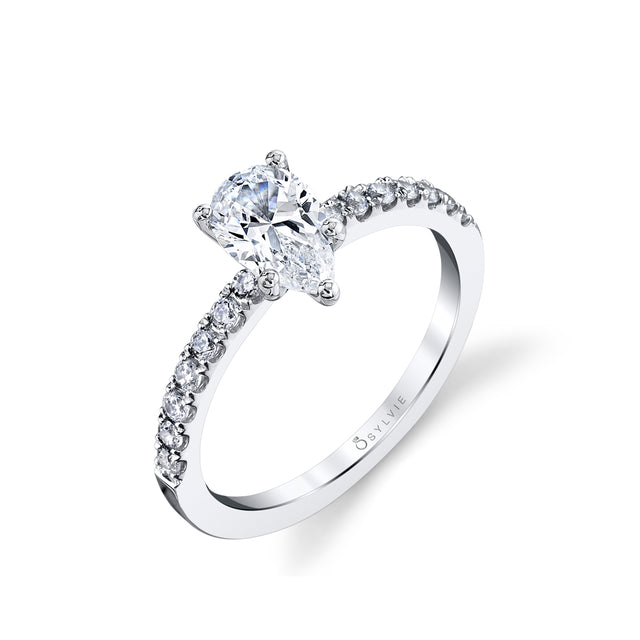 Pear Shaped Engagement Ring S1498 - PS - Chalmers Jewelers