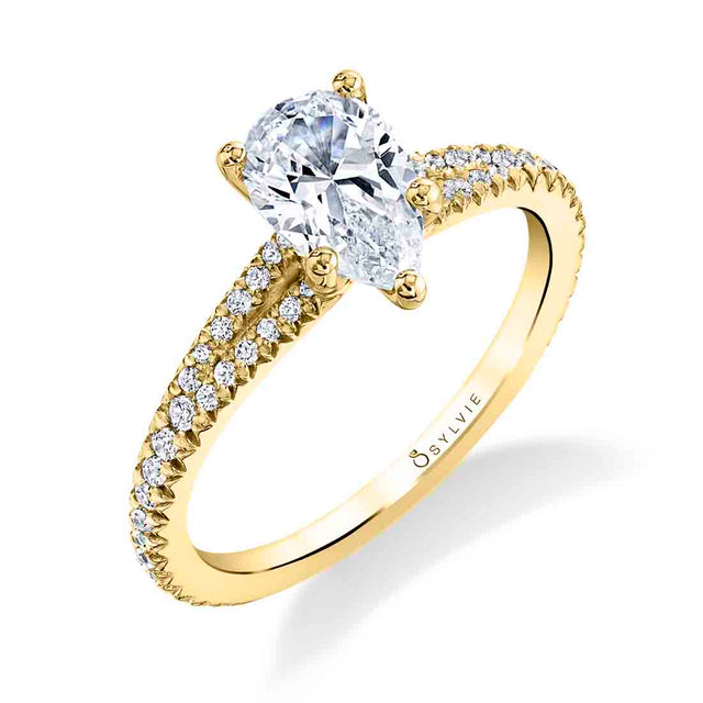 Pear Shaped Engagement Ring S1700 - PS - Chalmers Jewelers