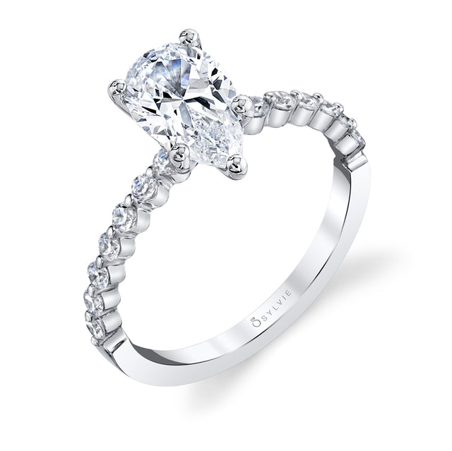 Pear Shaped Engagement Ring S1P14 - PS - Chalmers Jewelers