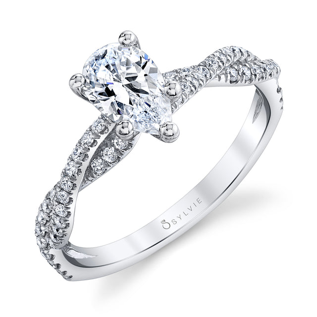 Pear Shaped Engagement Ring S1523-PS - Chalmers Jewelers