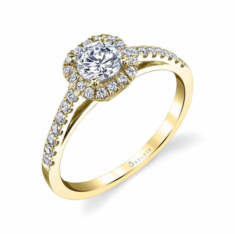 Classic Halo Engagement Ring SY728 - Chalmers Jewelers