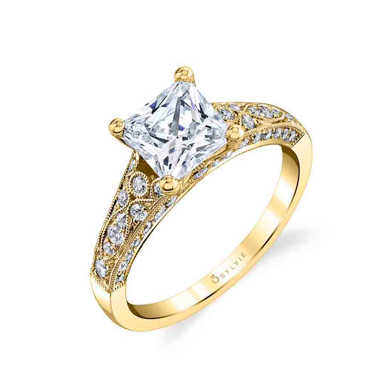 Princess Cut Engagement Ring S1272 - PR - Chalmers Jewelers
