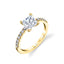 Princess Cut Engagement Ring S1498 - PR - Chalmers Jewelers
