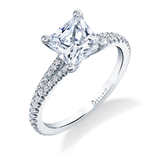 Princess Cut Engagement Ring S1700 - PR - Chalmers Jewelers