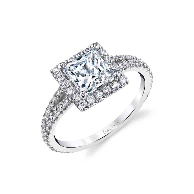 Princess Cut Engagement Ring S2493 - Chalmers Jewelers