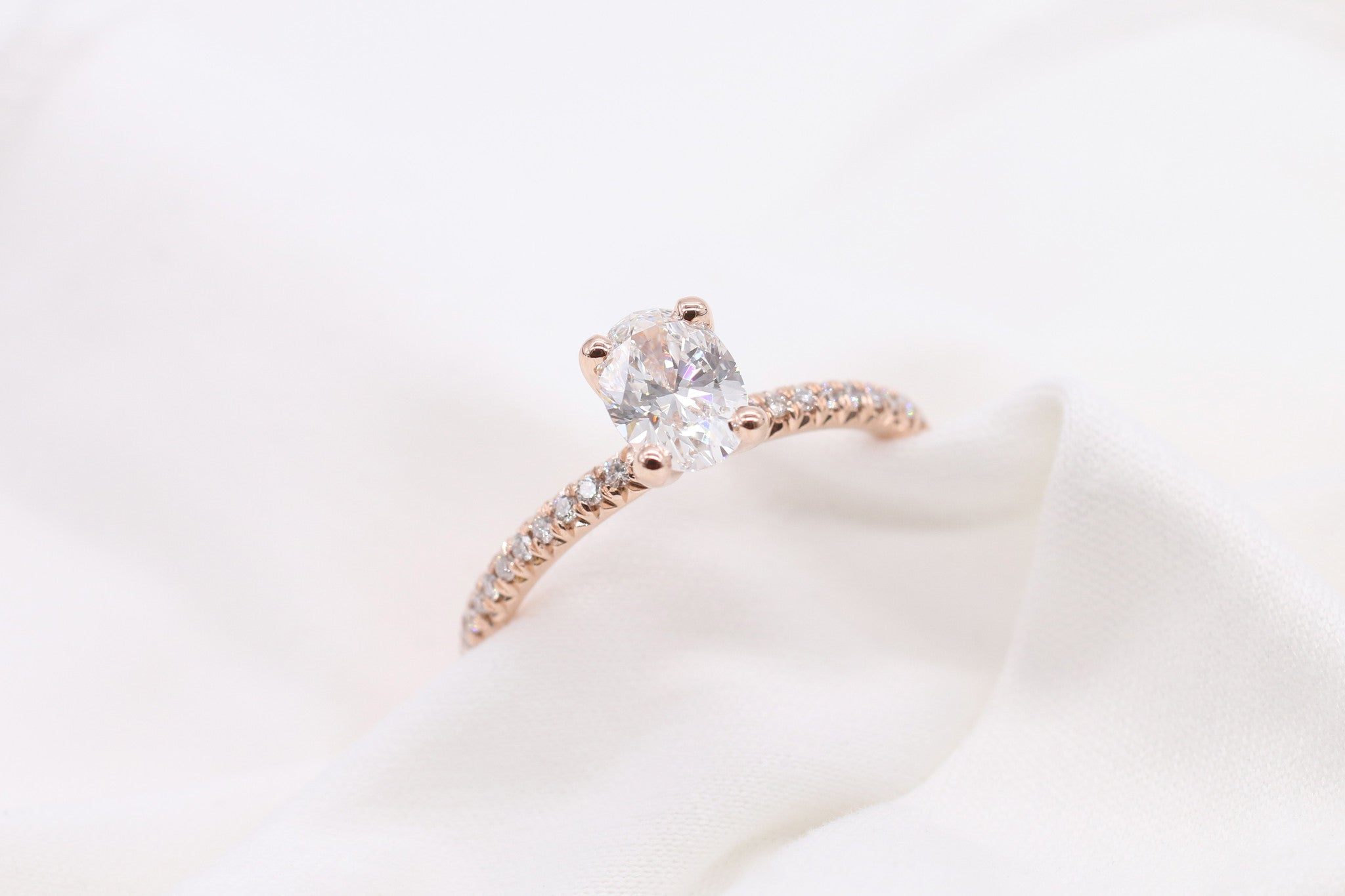 Custom Rose Gold Solitaire Engagement Ring